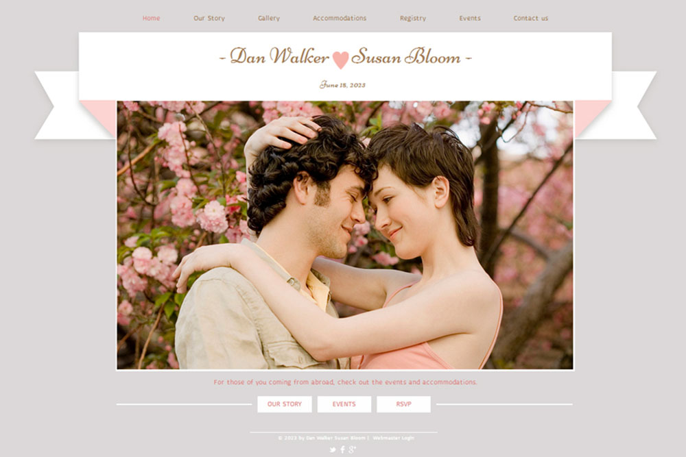 Wedding Website By Net Nuptials